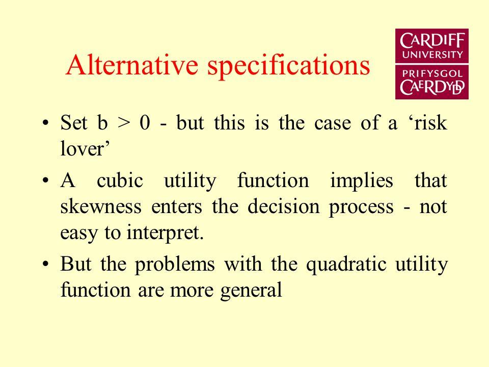 Quadratic Utility Function U R U(R) Max U