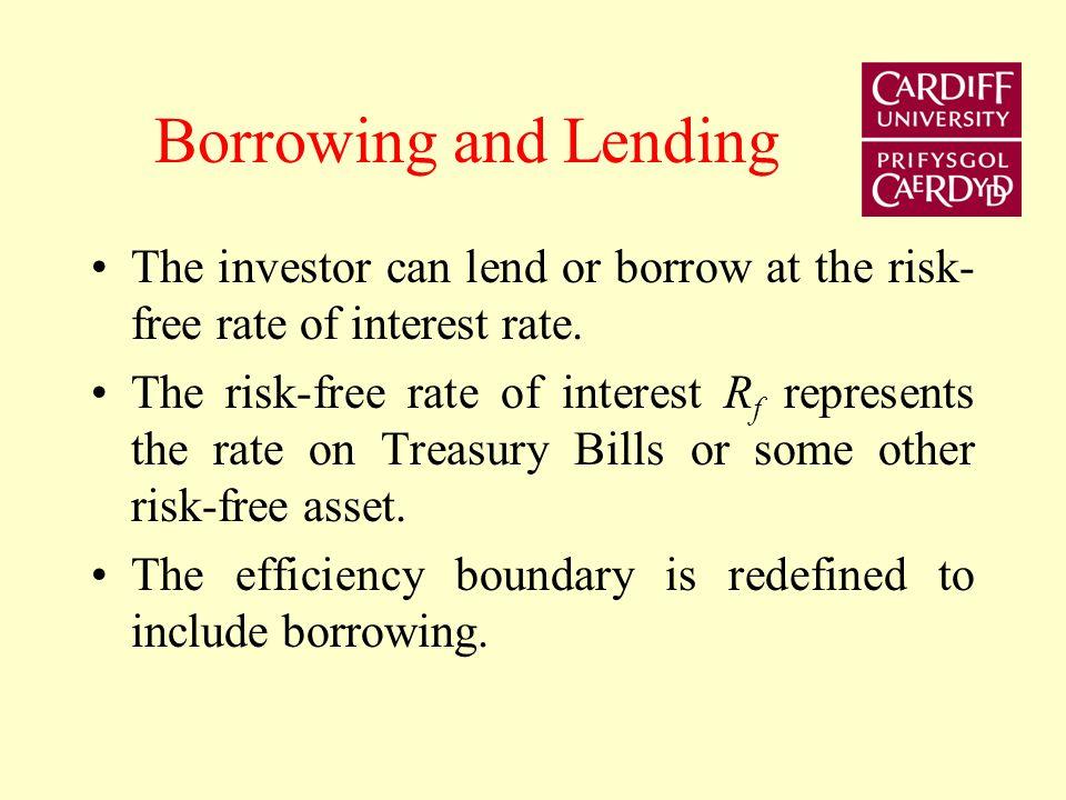 Combining risk-free and risky portfolios A B C RfRf E(R p ) σpσp
