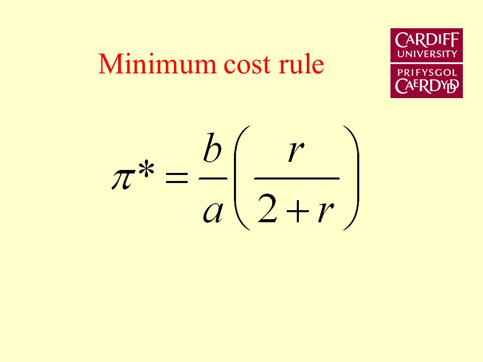 Costs and benefits of commitment b 2 /2a b 2 /2a(1+r) Enforceable range Best enforceable rule 0 Ideal rule b/a rb/a(2+r)