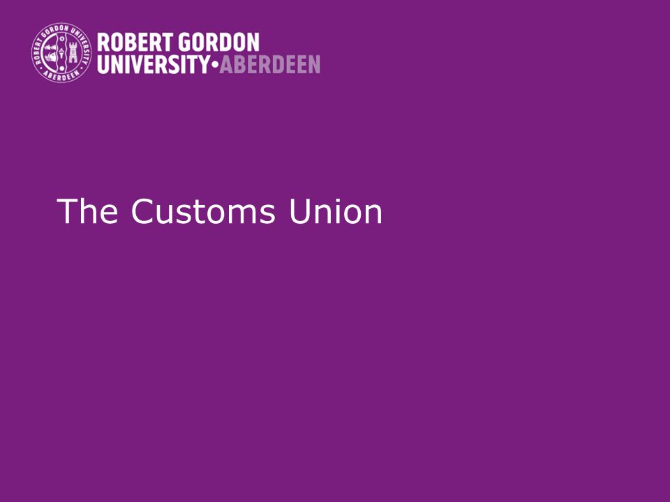 The Customs Union