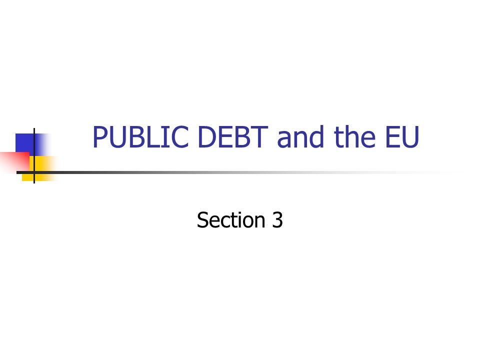 PUBLIC DEBT and the EU Section 3