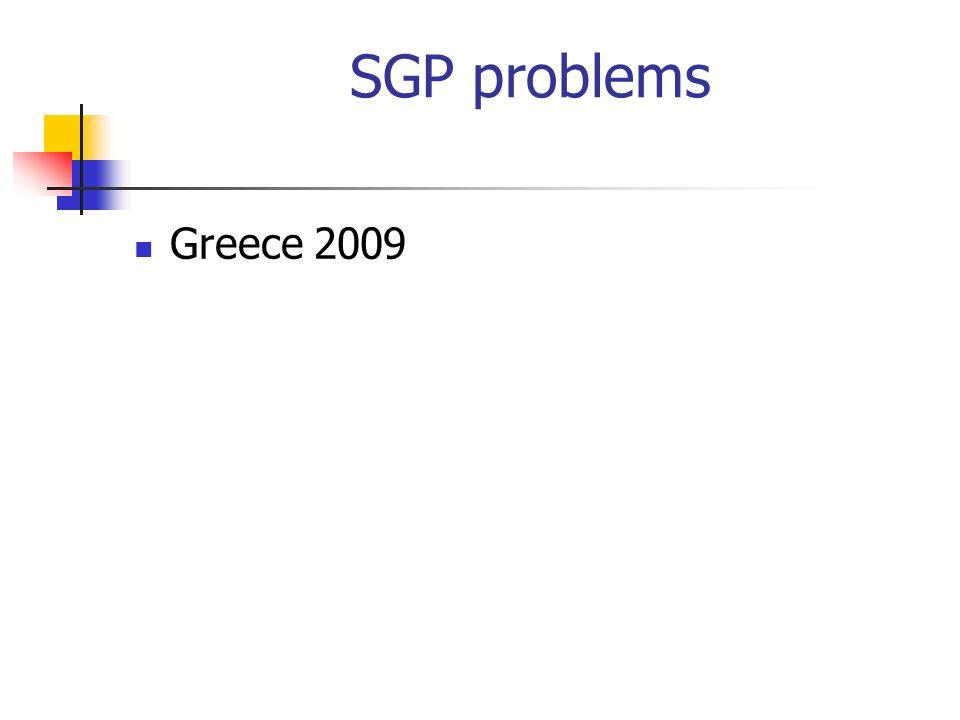 SGP problems Greece 2009