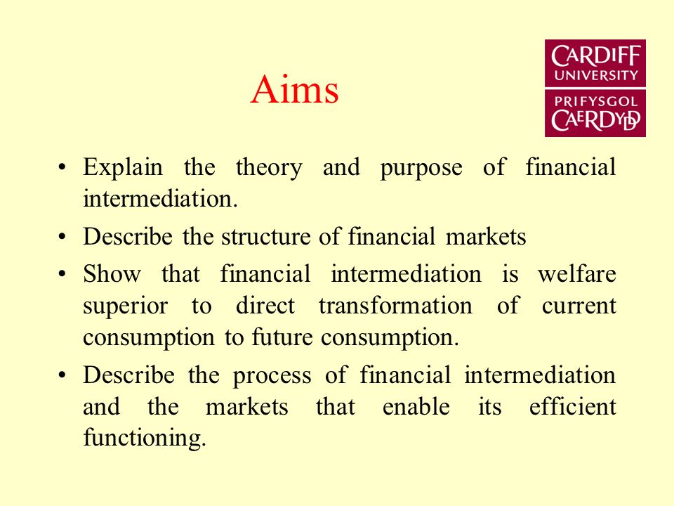 Money, Banking & Finance Lecture 1 The Nature of Financial Intermediation K Matthews