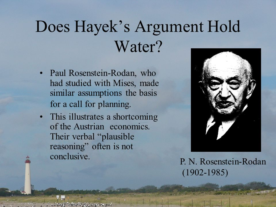 Does Hayeks Argument Hold Water.