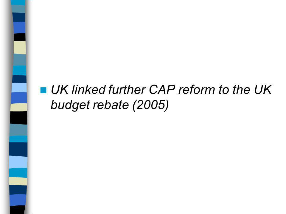 Source: House of Lords EU Committee, The Future Financing of the CAP, session 2005-06