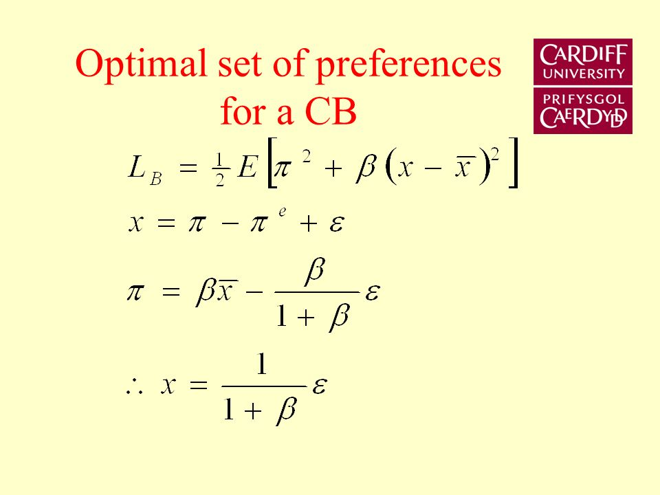 The Inflation Nutter Deflationary bias x A B C C1C1 C2C2 C3C3 >0 =0 <0 C B A