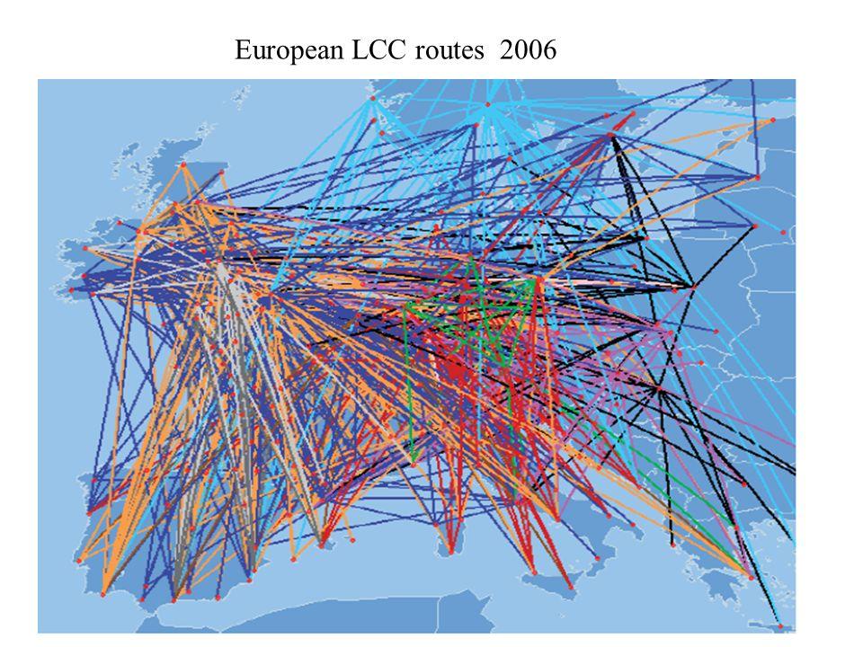 European LCC routes 2000