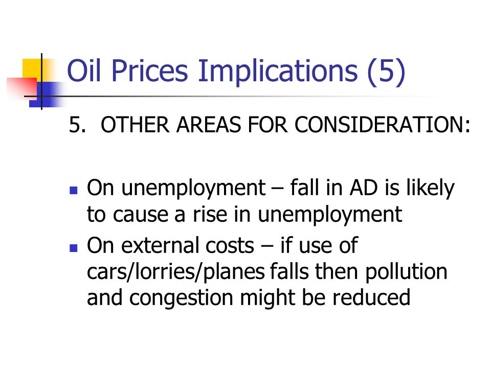 Oil Prices Implications (5) 5.