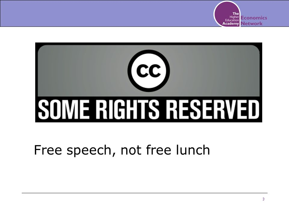 3 Free speech, not free lunch
