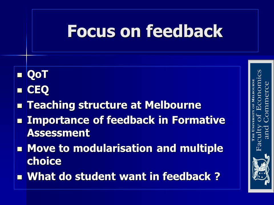 Strategies for improvement Train tutors to increase depth of feedback and instruct students in how to use this form of feedback.