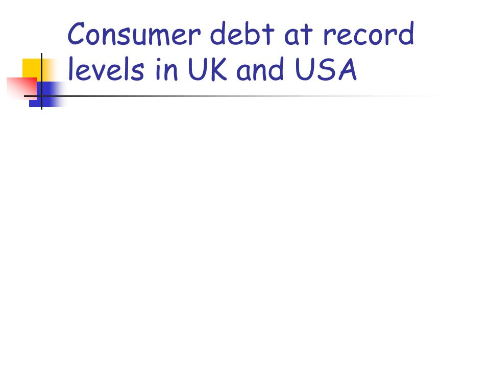 Consumer debt at record levels in UK and USA