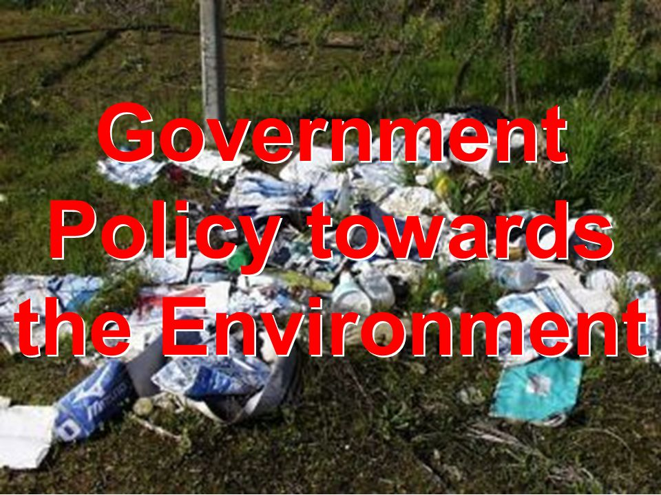 Government Policy towards the Environment