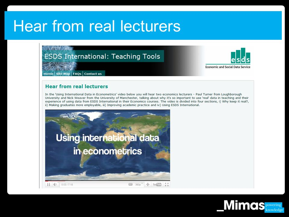 Hear from real lecturers
