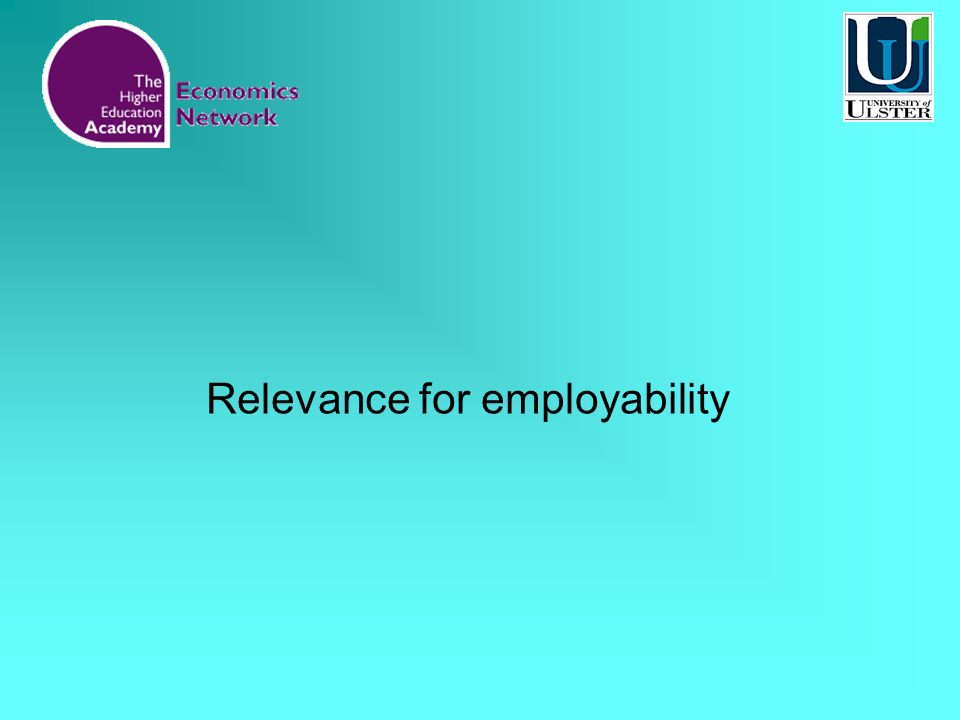 Relevance for employability