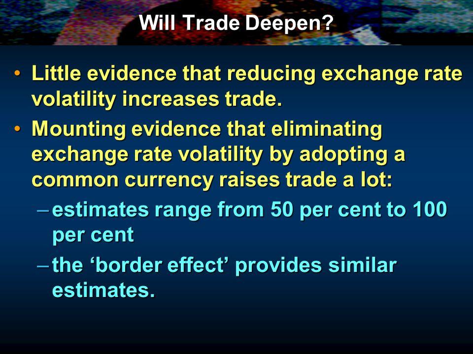 Will Trade Deepen.