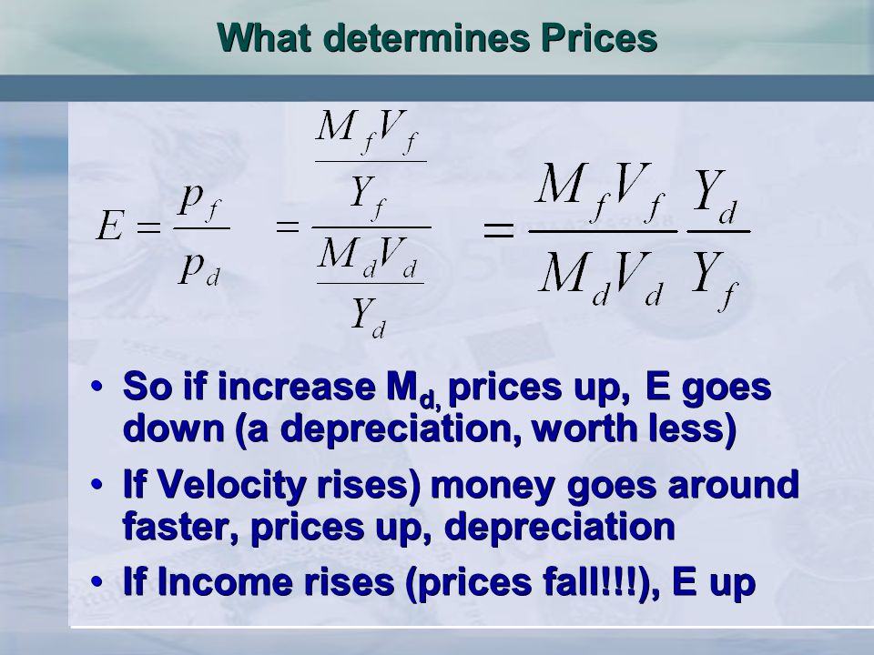 O Exchange rate Quantity of £s S1S1 D1D1 er 1 Adjustment of the exchange rate to a shift in demand and supply