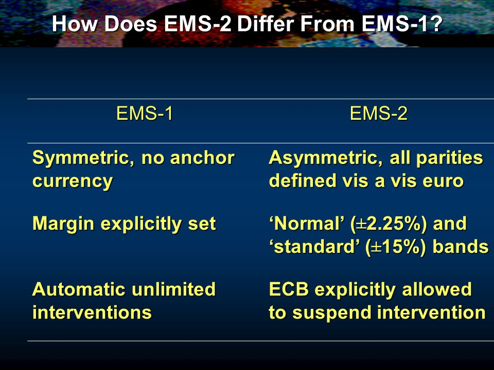 How Does EMS-2 Differ From EMS-1.