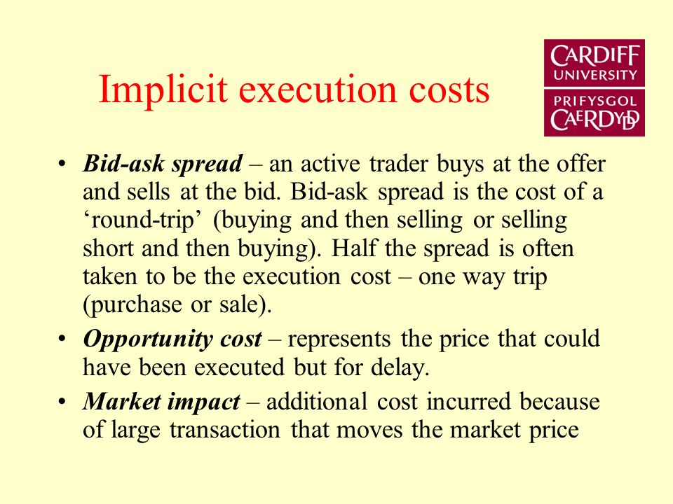 Execution An execution is realised whenever two counterpart orders cross.