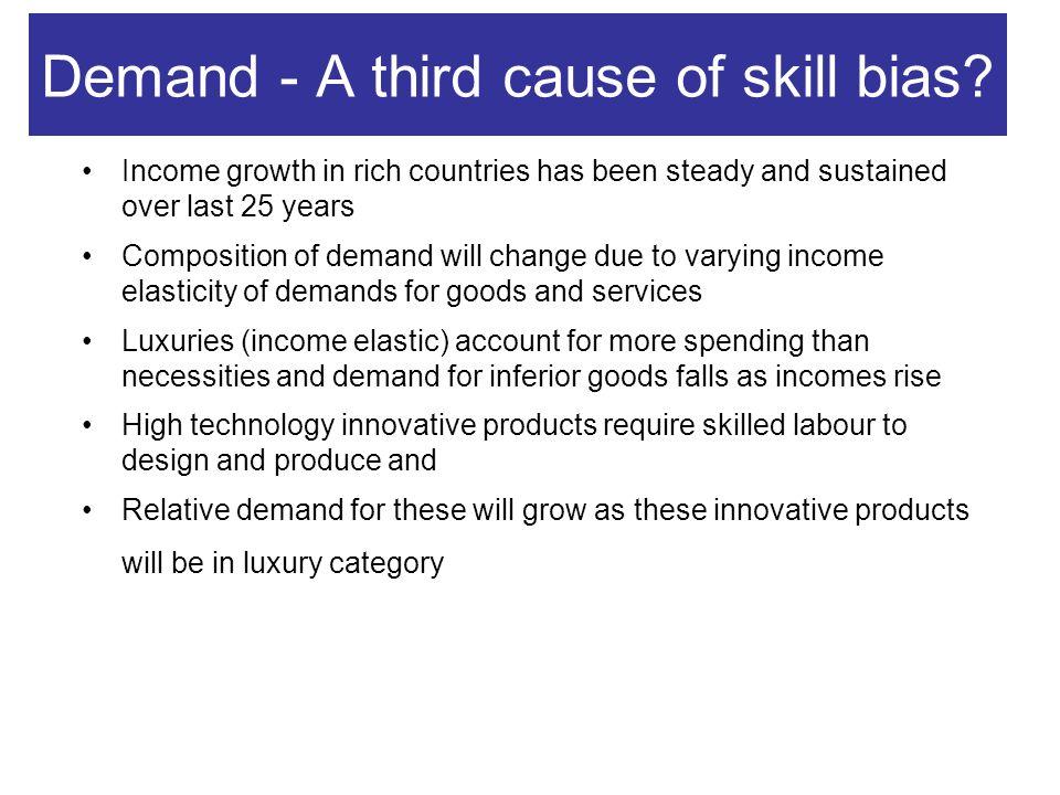 Demand - A third cause of skill bias.
