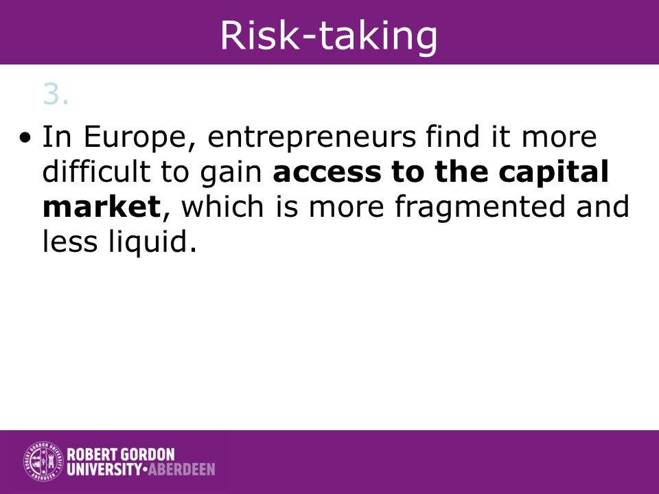 Risk-taking 3.