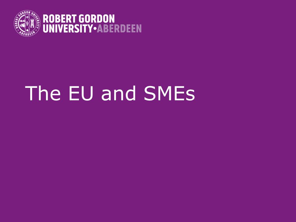 The EU and SMEs