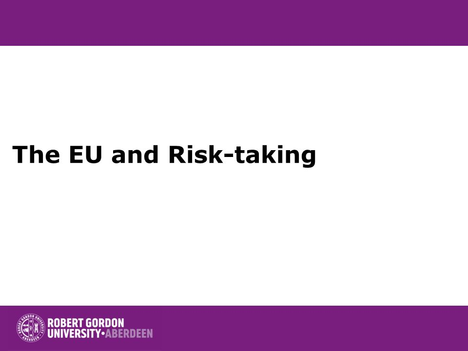 The EU and Risk-taking