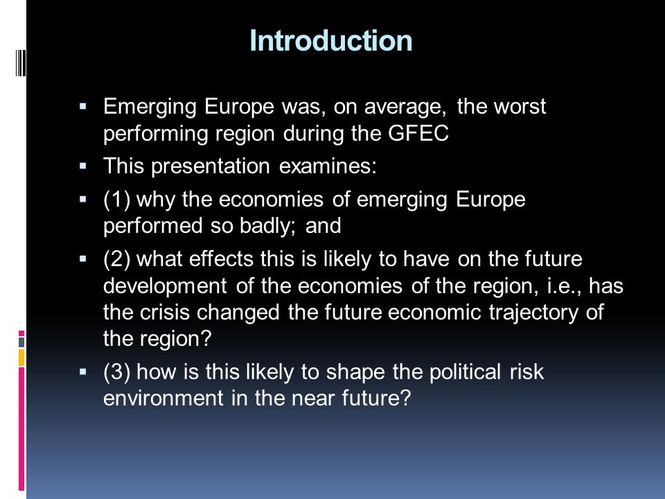 Summary 1.Convergence: pre-crisis performance in comparative perspective 2.