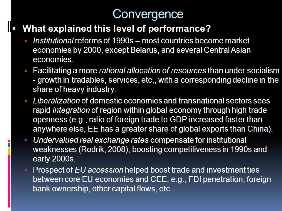 Convergence: growth models 1995-19992000-2004