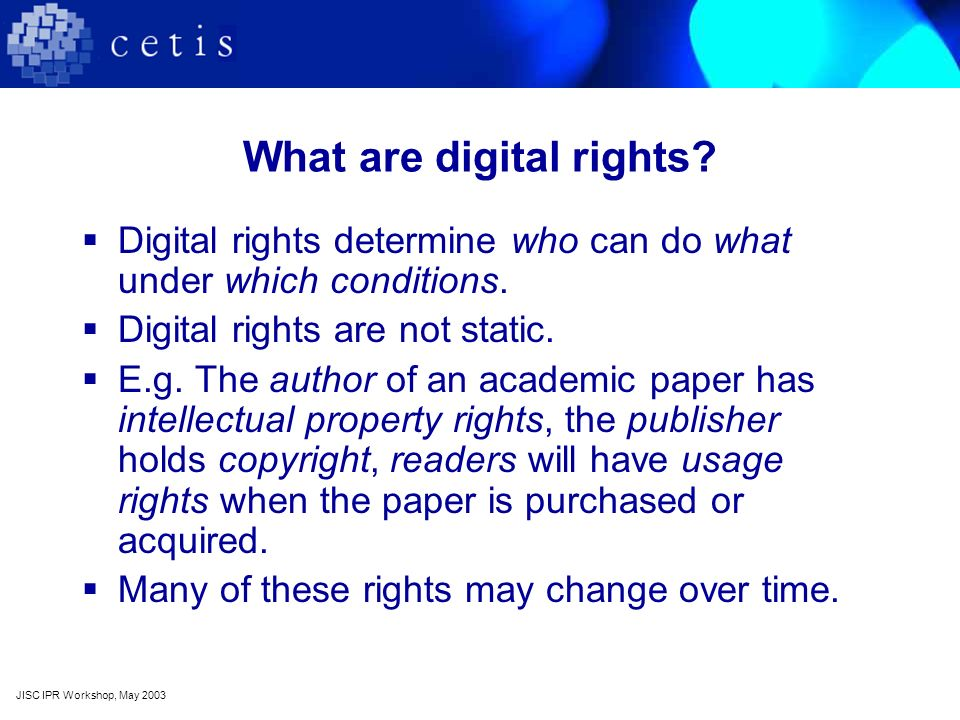 What is digital rights management.