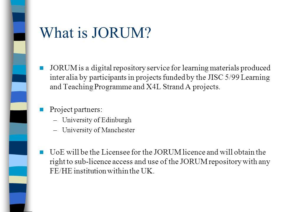 What is JORUM.