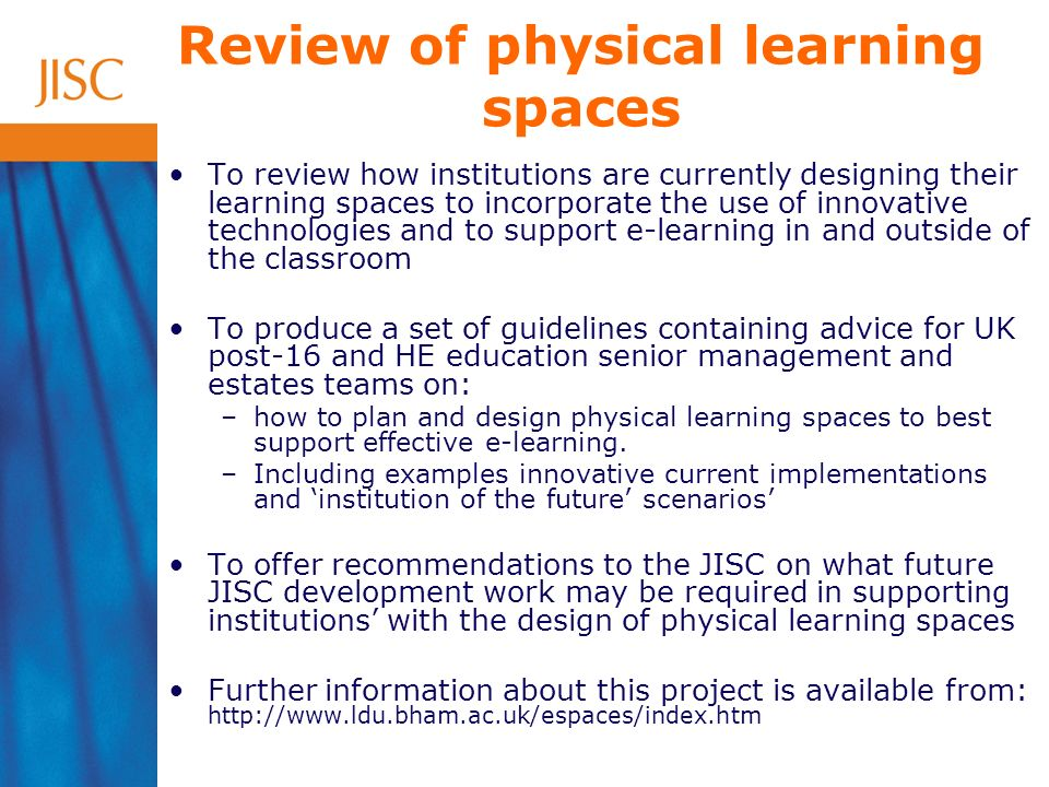 Publication Entitled: Innovative practice with e-learning Aim: –To synthesise outcomes from the Innovation strand Focus: –how innovative practice with e-learning can extend and enhance rather than replace current practice –how the use of technologies can benefit learners and maximise their learning potential –how to plan for effective deployment of these technologies in future developments within the institution, in particular for the impact they may have on learning space design Audience: –Senior managers and practitioners from across FE, ACL and HE sectors –Key stakeholders and policy makers Launch: –ALT-C – 6-8 th September 2005