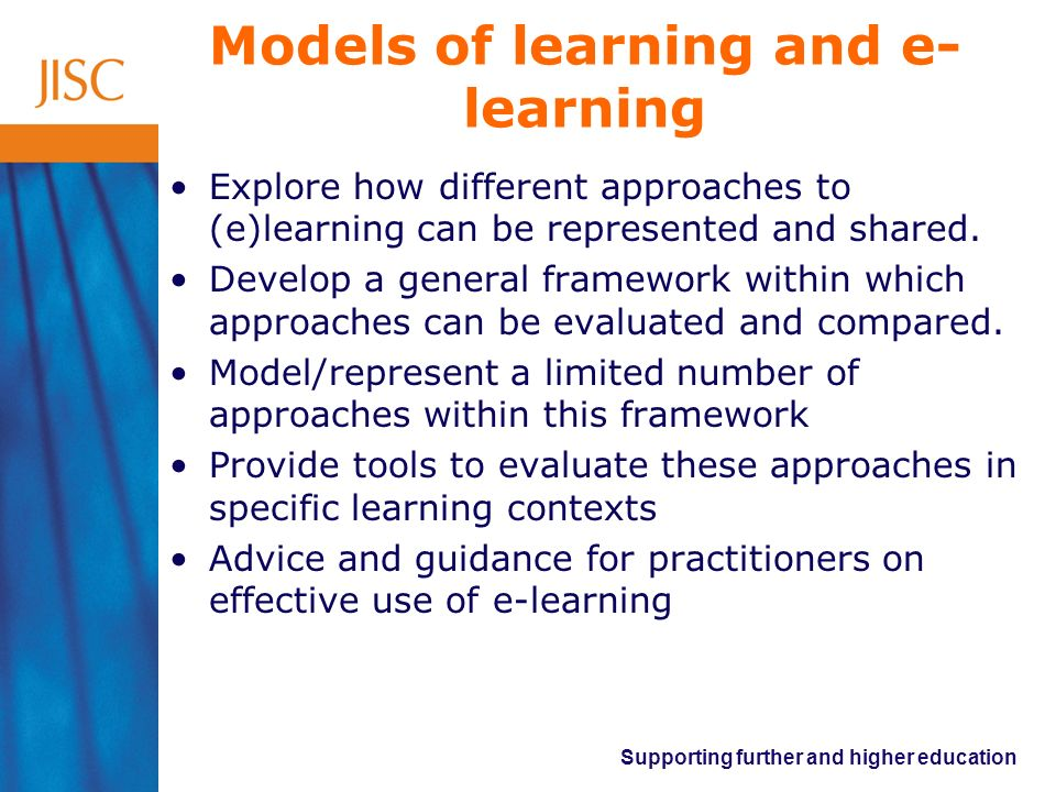 Supporting further and higher education What is effective practice in designing for learning.
