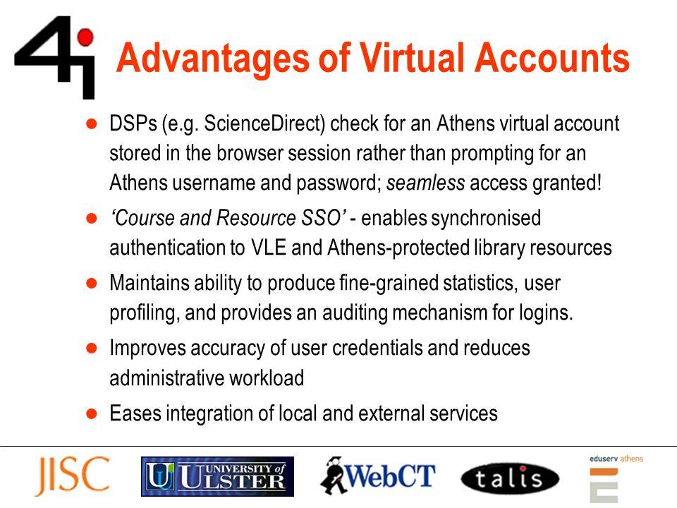 Advantages of Virtual Accounts DSPs (e.g.