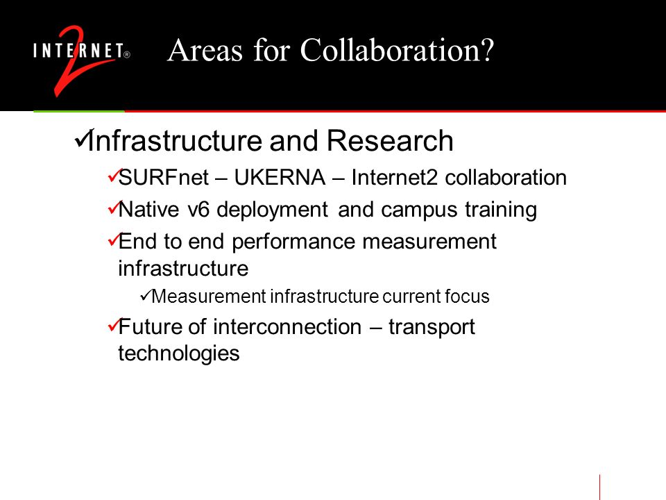 Areas for Collaboration.