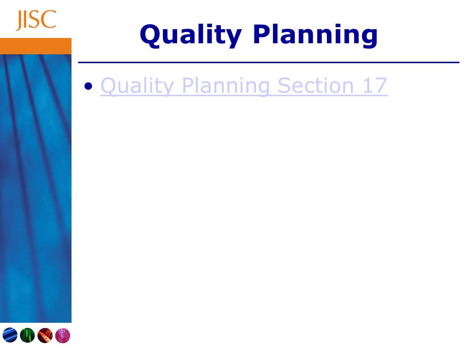 Quality Planning Quality Planning Section 17