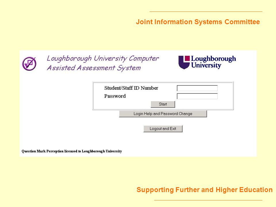 Joint Information Systems Committee Supporting Further and Higher Education