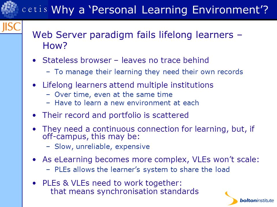 Web Server paradigm fails lifelong learners – How.