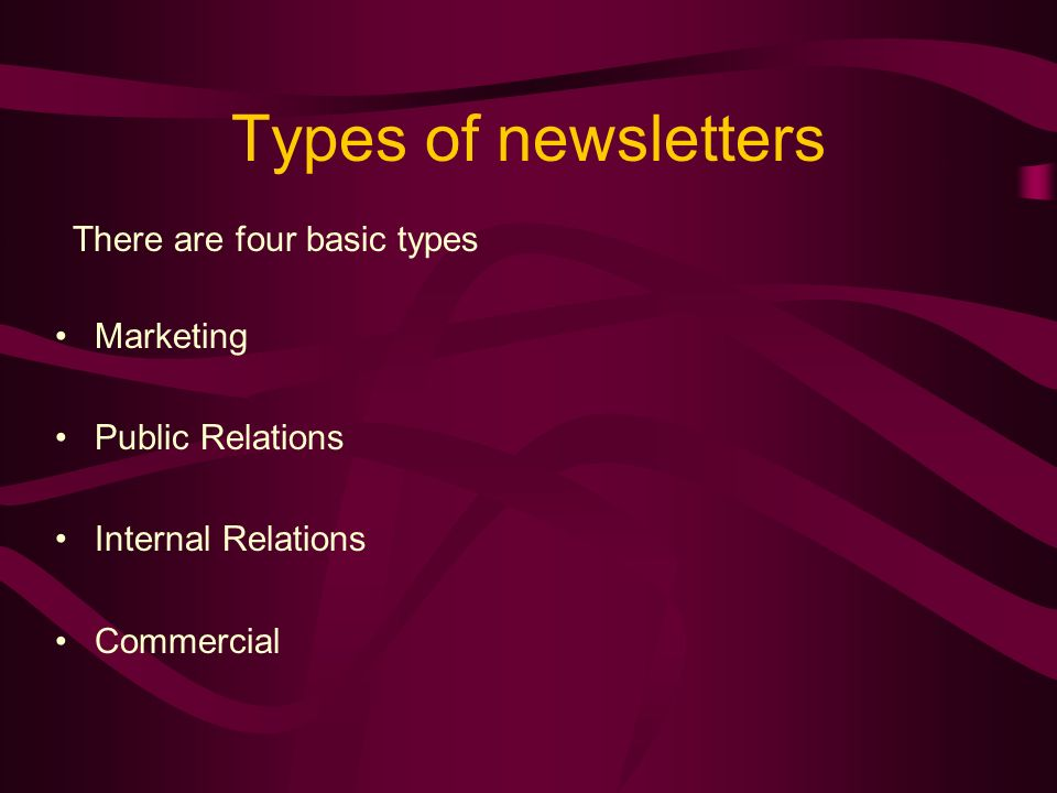 What is a newsletter.