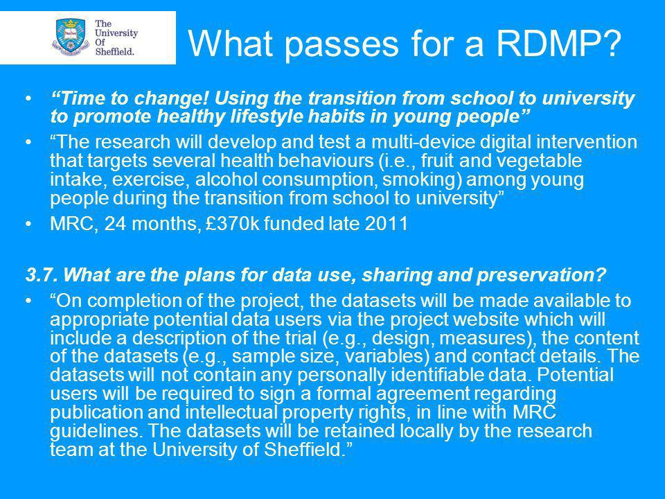 01/04/2014© The University of Sheffield Backing up over the short-term Doing the same thing in Dropbox
