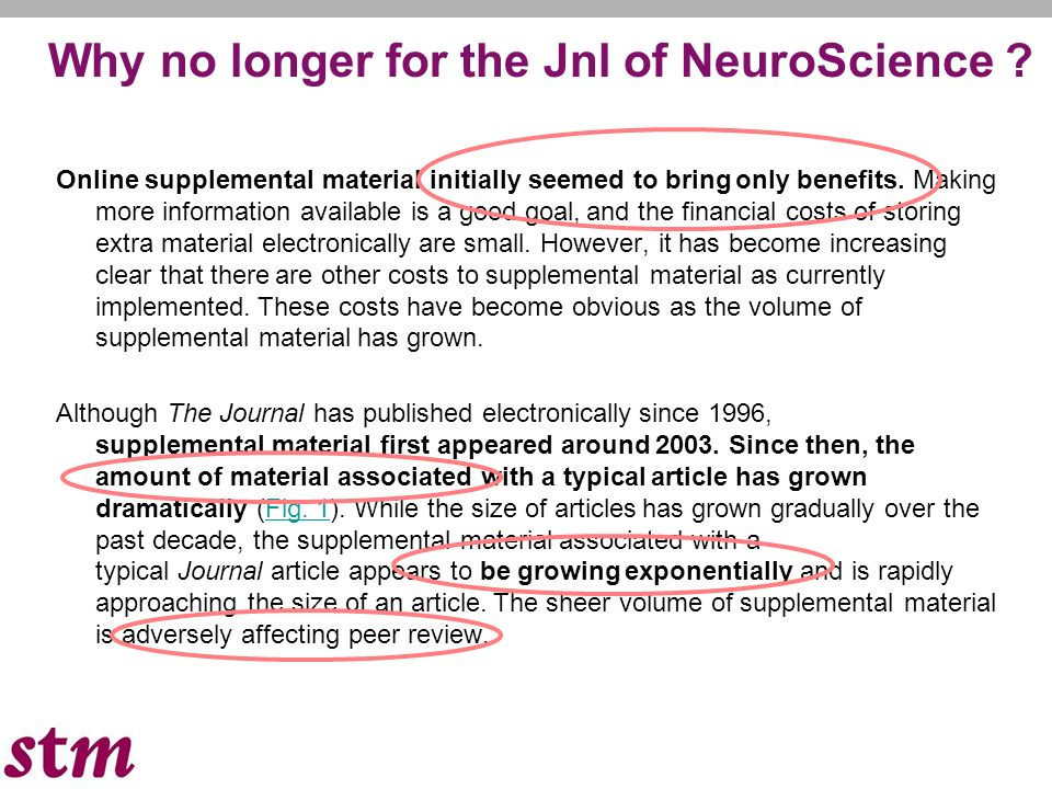 Why no longer for the Jnl of NeuroScience .