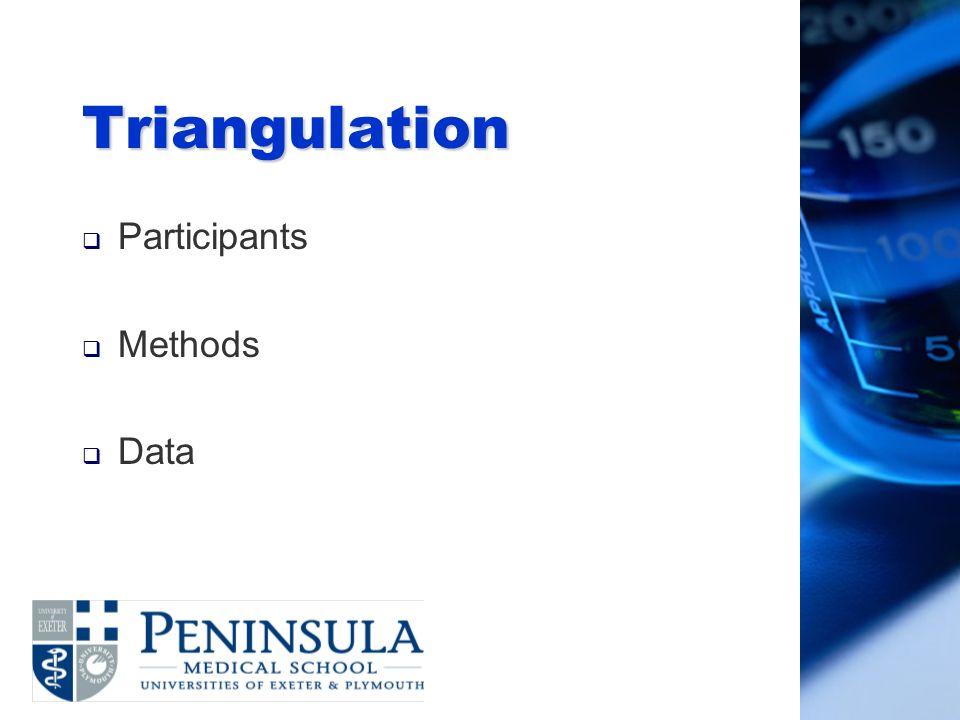 Triangulation Participants Methods Data