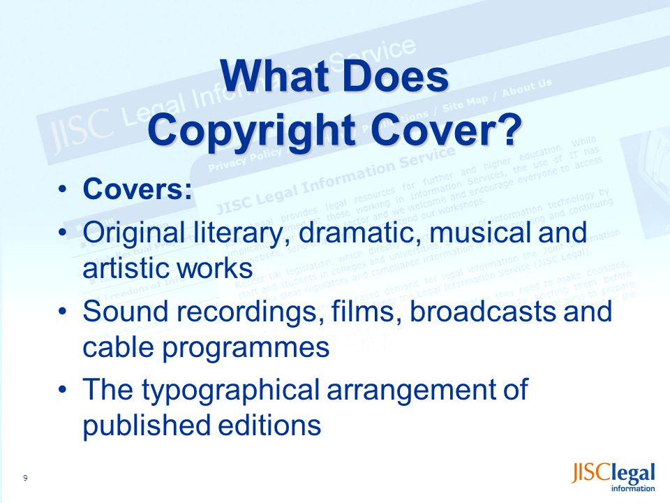 9 What Does Copyright Cover.
