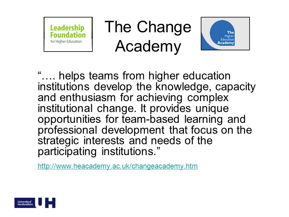 The Change Academy ….