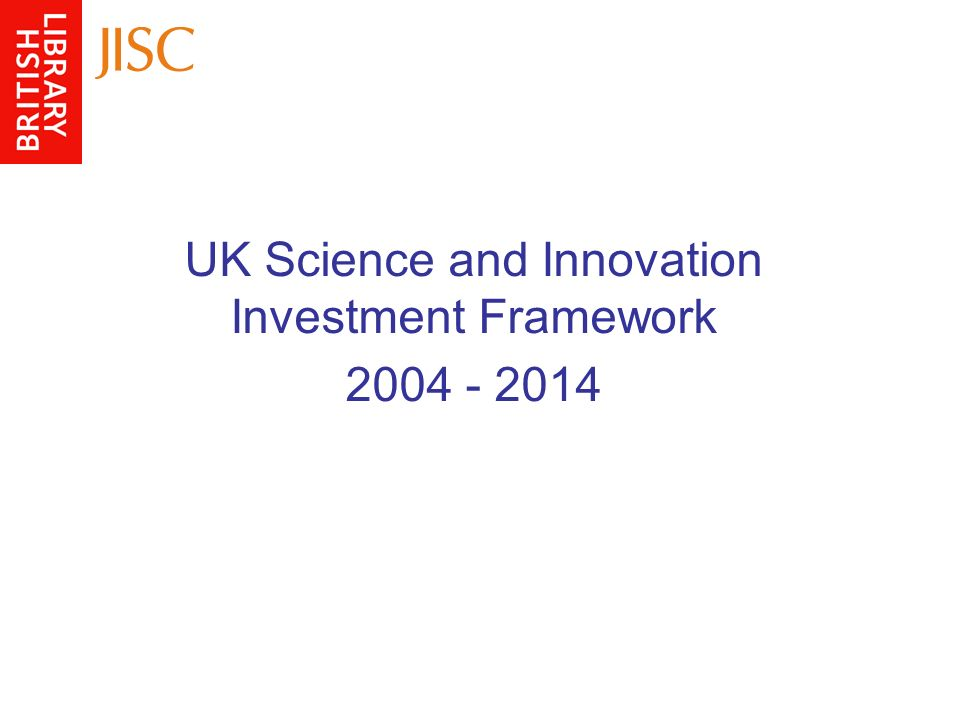 UK Science and Innovation Investment Framework