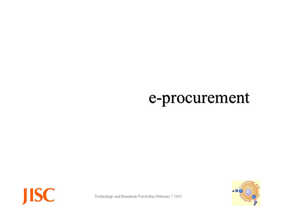 Technology and Standards Watch Day February e-procurement