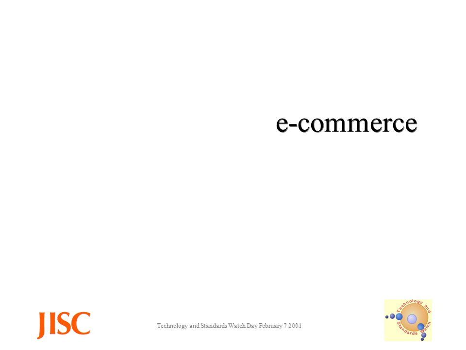 Technology and Standards Watch Day February e-commerce