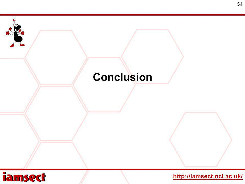 http://iamsect.ncl.ac.uk/ 54 Conclusion
