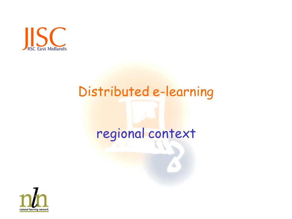 Distributed e-learning regional context