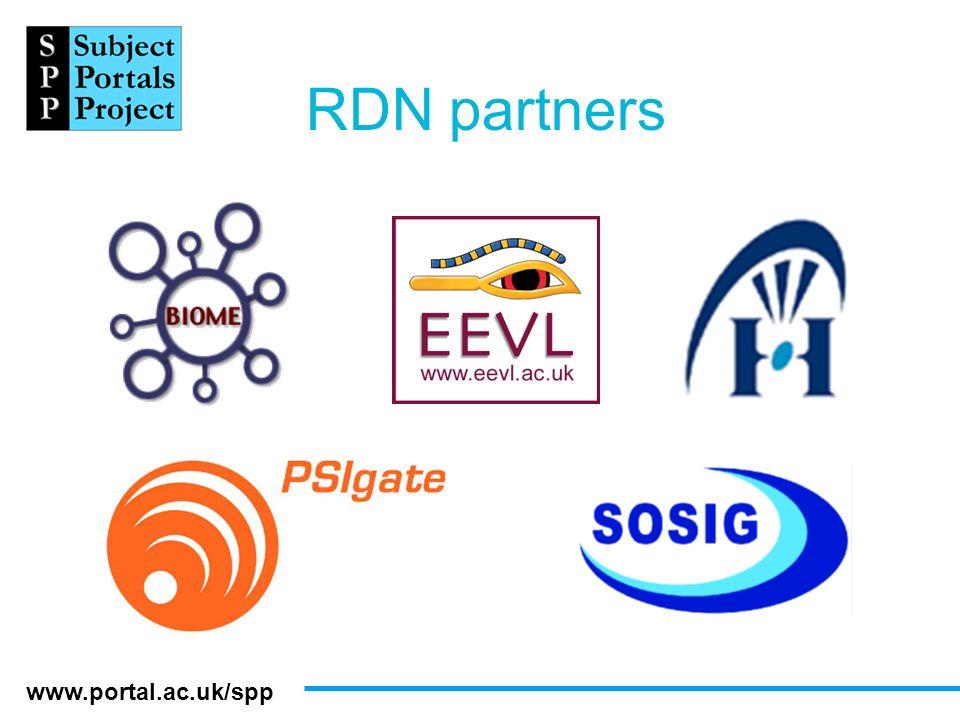 www.portal.ac.uk/spp RDN partners