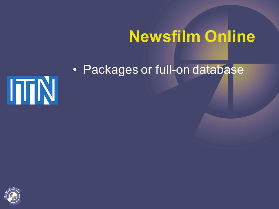Newsfilm Online Packages or full-on database